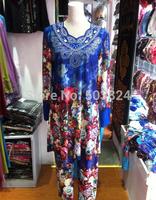 100% guaranteed free shipping,052858 ,silk long Muslim abaya with diamond,2012 newest