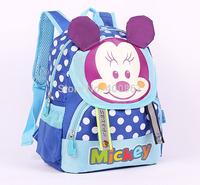 Cartoon mickey children backpacks/kids kindergarten backpack/kid school bags/child Satchel free shipping