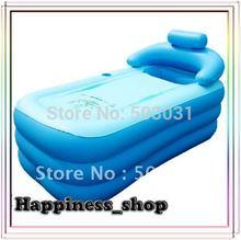 Wholesale&Retail Spa folding Portable bathtubnflatable bath tub /with cushion + Foot air pump(China (Mainland))