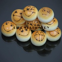 Free Shipping/Cute emotional face bread bun squishy charm/mobile phone Strap/sweet keychain/bag Pendant/Wholesale 8270