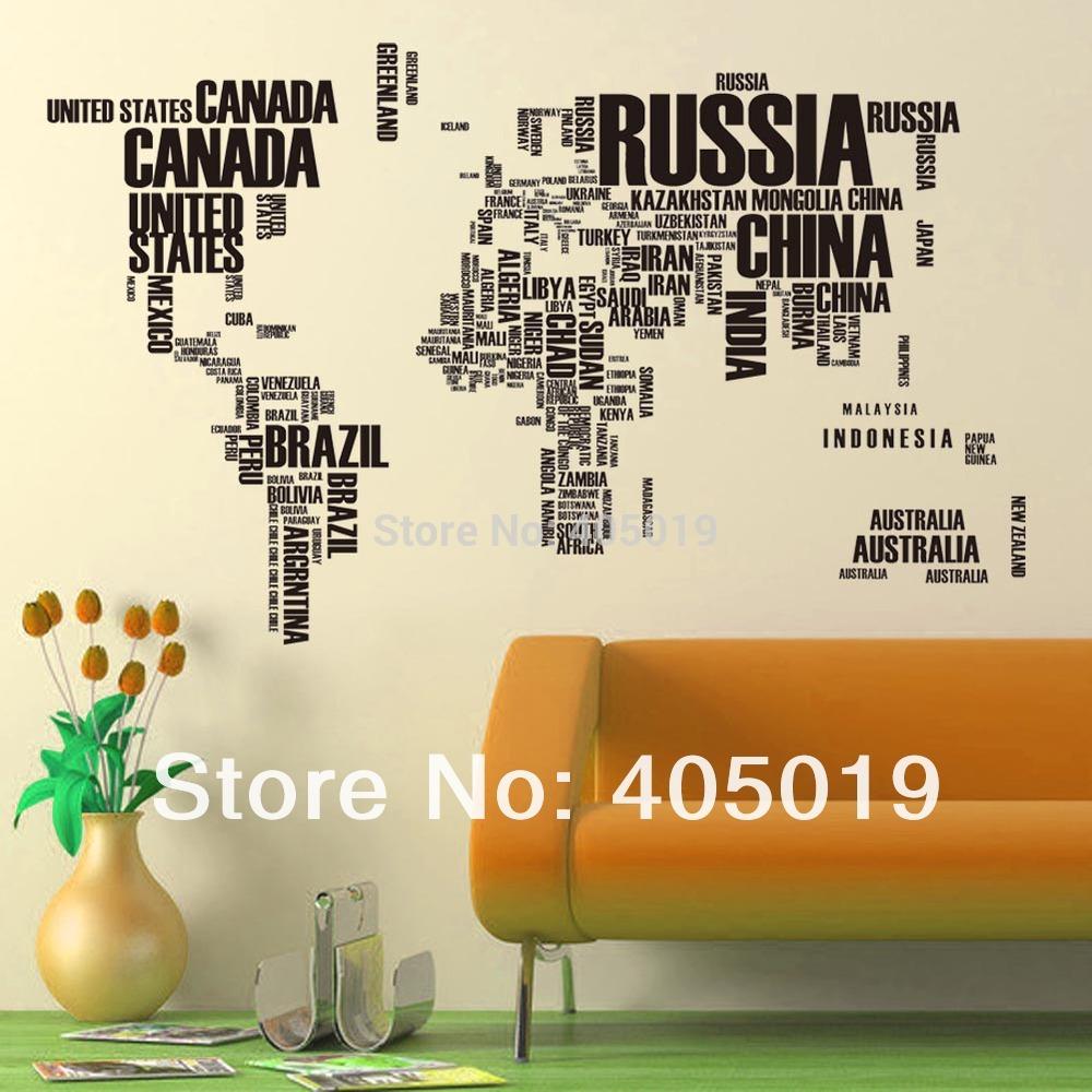 Стикеры для стен Zooyoo 190x116cm 95AB 2 = 1set Adesivo Parede