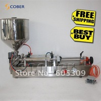Free shipping,100~1000ml semi-automatic filling machine with hopper,stainless,high Viscosity