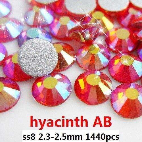 Стразы для одежды GL 1440 8 2.3/2.5 AB ss8 молния для одежды yw market 80 ab 80cm