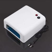 Free Shipping 36W 220-240V/110-127V Gel Curing Nail Art UV Lamp Tube Light Nail Dryer with 4pcs 9w 365nm UV Bulb