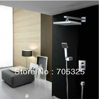 "Free shipping 8"" shower head luxury bath shower set chrome  finishing hotsale Retail competitive price ZH89"