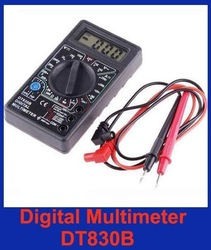 Ammeter Voltmeter Ohm Test Meter Professional Electric Digital Multimeter DT830B without retail box free shipping(China (Mainland))