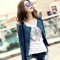 Весна моды женщин пу пальто Корея женщин кистями Топ кожа куртка пуховики меховой одежды куртки 2w0101