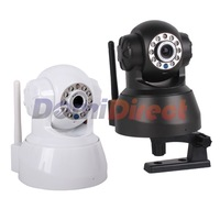 All-in-one Two-way Audio Pan Tilt Nightvision ip camera wireless wifi camera black color