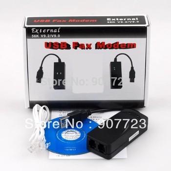 USB 56K External Dial Up Voice Fax Data V.90 V.92 Modem Dual Ports for Window 7 XP Vista 64bit