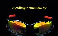 Freeshipping Top Quality Mens Sports Sunglasses Black TR90 Frame Frie Iridium Vented Lens 3 Pairs Exchangeable Lens