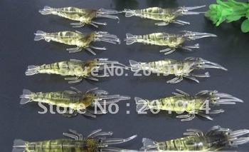 50pcs/lot 1.2g/4cm High Quality Shrimp bait Soft lure Fishing lure Fishing tackle Fishing tool Hard lure