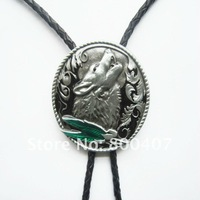 Wholesale Retail Bolo Tie (Western Wolf) Factory Direct Free Shipping BOLOTIE-WT013