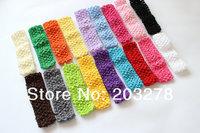 free shipping -wholesale 50 pcs /lot  baby Headband girls crochet headbands chidren headdress baby taenia
