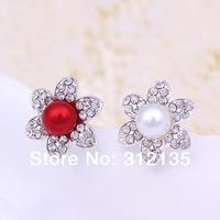 Free Shipping Shining Fashion Pearl Crystal  Wedding Bridal Flower Hairpin Silver Plating Hairpin7cm Mixed Items 120pcs/Lot