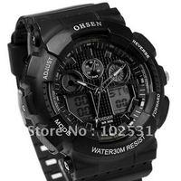 Fast Shipping Fashion Ohsen Chronograph Digital Sports Military Watch 1012A