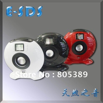 cute speaker for iPhone,iPod.computer speaker with screen,HK post free shipping