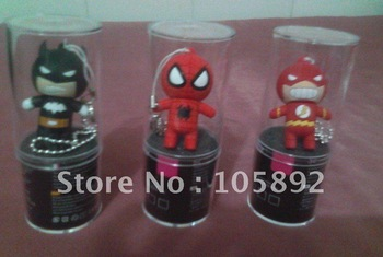 Special Offer  Free Shipping DHL 100pcs  Batman, Spider-Man, Lightning-Man USB Flash Drive with plastic tube packing