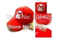 free shipping 10pcs/lot Super Mario Bro Anime mario Hat Kids Cap Cosplay New 4 colors choose mario cap B06