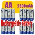 1.2v AA HR6 2500mAh Rechargeable Recharge Ni-MH NiMH Battery Flashlight MP3 Player TOy Radio Remoter Battery