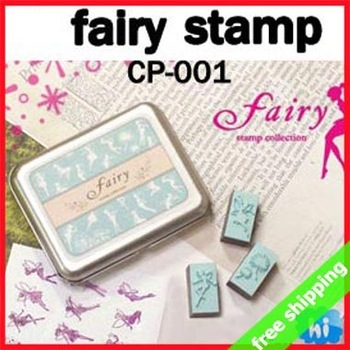 FREE SHIPPING DIY Stamp Set Full Fairy Creative Korean Brand Tin Box Multifunction EVA Funny Fashion Gift 9sets say hi 001