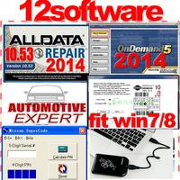 2014 Alldata 10.53 +2014 Mitchell ondemand+Automotive Expert+Tachosoft Mileage Calculator 12 in1+750GB HDD fit 32&64bit system