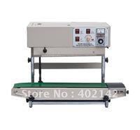 Plastic Bag Sealing machine+Vertical Sealing +stainless steel+date printing+free shipping+100% warranty