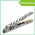 Free Shipping! 40pcs 1&quot;Tribal Zebra Ceramic Hair Straightener Irons Salon Tool  DHL Free shipping 2012 hotting in US