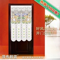 room divider Curtain fabric Japanese screen cut off trade lovely pastoral lace geomantic omen door curtain transporter windmill