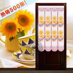 room divider Japanese hanging curtain cloth partition of Taiwan Feng Shui blessing sunflower 150 white curtain(China (Mainland))