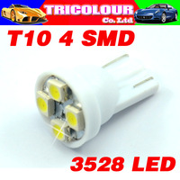 T10 194 168 501 W5W 4 SMD 1210 Car Wedge Led Bulb License Plate Indicator clearance light 100pcs/lot HK POST FREE #LB01