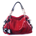 2013 Fashion 100% Genuine Leather Women bags,New designer shoulder flower leather Tassel Totes lady handbag