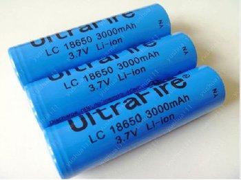 Promotion Ultrafire18650 Lithium Li-ion 3.7v 3000mAh Rechangeable Battery for LED Flashlight  Laser pen Toy