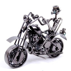 Wrought Iron art Motor motorcycle model 18x7x12cm Novelty Valentine Gift New Arrival sculpture Home decoration figurine(China (Mainland))