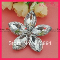 big crystal stone flower shape brooch 100pcs/lot  free shipping WBR-686