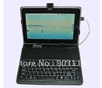 "7"",8"",10""USB Tablet PC Leather Keyboard Case for ZT180,Flytouch X220 tablet pc russian keyboard Free Shipping! Dropship mp3 usb"