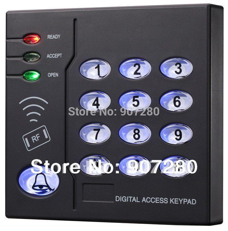 Brand new 6,500 utilisateur de proximité khz rfid 125 em( identifiant) en plastique carte de contrôle d'accès clavier, contrôle d'accès autonome