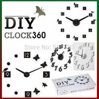 Free Shipping Fashion alarm DIY clock, mute electronic decorative quartz wall clocks