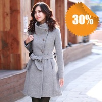 NEW,  double breasted elegant fashion sweet wool long thick warm ladies winter coat