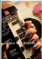 Free shipping Wholesale Fashion Nail Film Nail Art Sticsker nail foil stickers (Random 24 design)
