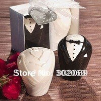 Bride and groom Salt and pepper shakers, Salt shakers SJ-003