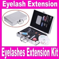 False Eye Lash Eyelash Eyelashes Extension Kit Full Set with Make up Case, Dropshipping Free Shipping