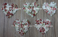 Free USA ePacket/CPAP 200pcs10x9cm Saint Valentine's Day print chiffon rosettes heart hair garment accessories