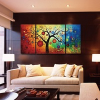 """Fengshui fortune tree decorative oil painting group painting """" Oil Painting"""