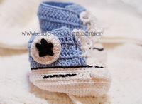EMS Shipping Free 30 Pairs/lot Handmade Crochet Baby Shoes Children Booties Cotton Shoes Sports Shoes