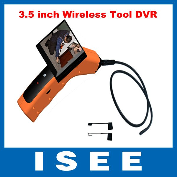 Endoscope inspection pipeline inspection 3.5 inch Wireless Tool USB DVR and MP3 Player Function free shipping china post(China (Mainland))