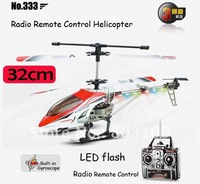 Wholesale 3.5ch rc model 32cm jxd 333 radio remote control helicopter gyro flashing LED Christmas gifts toy
