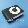 WHOLESALE GIFT & free shipping - New Mini Micro SD/TF Card metal mp3 Clip Mp3 player mini mp3 MP4 player MP5 player Black
