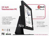 15 inch Touch Panel PC/ Intel Atom Processor N2600 CPU/ 2G Ram, 30G SSD/ Fanless, X86