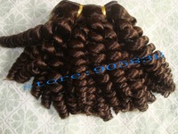 AFrican american golden brown oprah curl 100% human hair weaving
