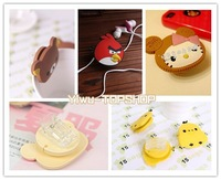Hot sale 5 designs Rilakkuma Bird  Yellow Chick Hello Kitty Multifunction Paper Clip Cord holder bobbin winder Cable holder